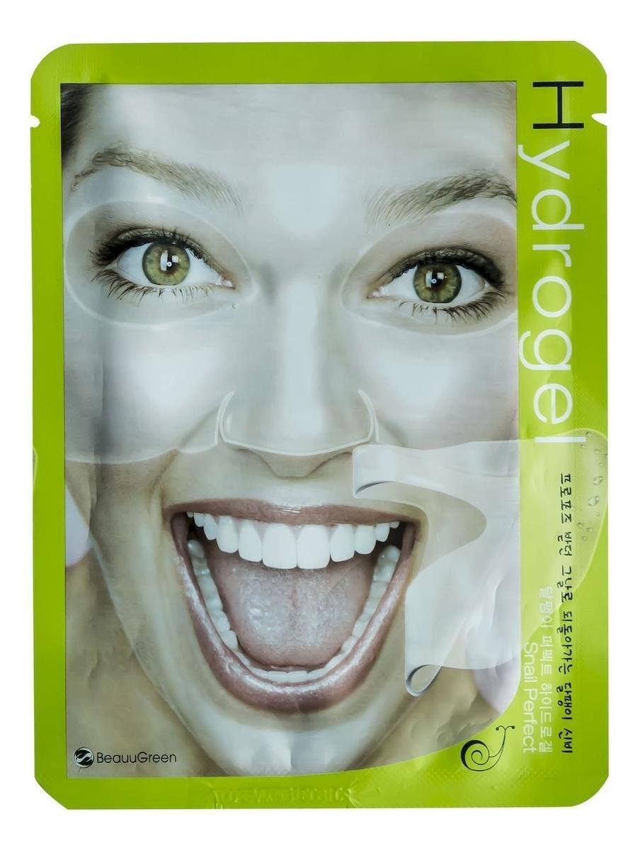 Гидрогелевая маска для лица с фильтратом секреции улитки Snail Perfect Hydrogel Mask 30г гидрогелевая маска золото и экстракт улитки