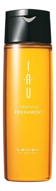 Освежающий аромашампунь для глубокого очищения IAU Cleansing Freshment: Аромашампунь 200мл аромакрем для волос шелковистой текстуры для укрепления 600 мл lebel iau infinity aurum
