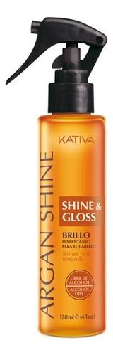 Спрей с аргановым маслом Блеск и сияние волос Argan Shine & Gloss 120мл спрей для волос kativa kativa ka009lugml06