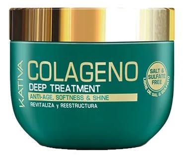 Интенсивный коллагеновый уход для волос Colageno Anti-Age Deep Treatment 250мл: Уход для волос 250мл шампунь коллагеновый kativa