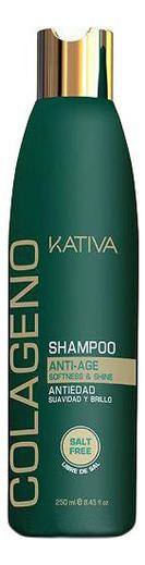 Коллагеновый восстанавливающий шампунь Colageno Anti-Age Shampoo 250мл: Шампунь 250мл шампунь коллагеновый kativa