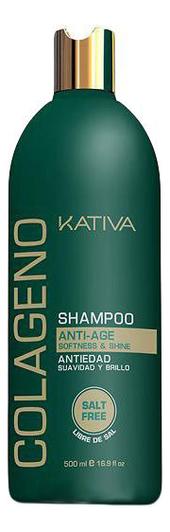 Коллагеновый восстанавливающий шампунь Colageno Anti-Age Shampoo 500мл: Шампунь 500мл шампунь коллагеновый kativa