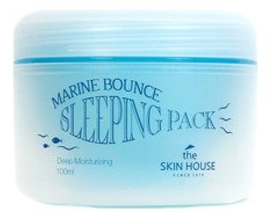Ночная увлажняющая маска для лица Marine Bounce Sleeping Pack 100мл маска для лица увлажняющая lady henna маска для лица увлажняющая
