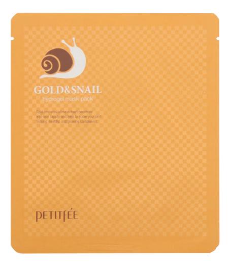 Гидрогелевая маска для лица с золотом и муцином улитки Gold & Snail Hydrogel Mask Pack: Маска 30г гидрогелевая маска золото и экстракт улитки