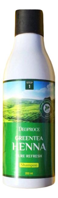 Шампунь для волос с зеленым чаем и хной Greentea Henna Pure Refresh Shampoo: Шампунь 200мл