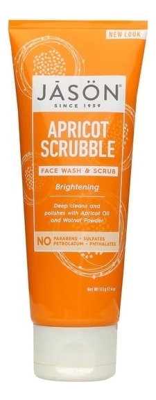 Скраб для лица с абрикосовым маслом Brightening Apricot Scrubble Pure Natural Facial Wash & Scrub 113мл