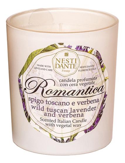 Ароматическая свеча Romantica Wild Tuscan Lavender & Verbena 160г (дикая тосканская лаванда и вербена) nesti dante тосканская лаванда гель для душа