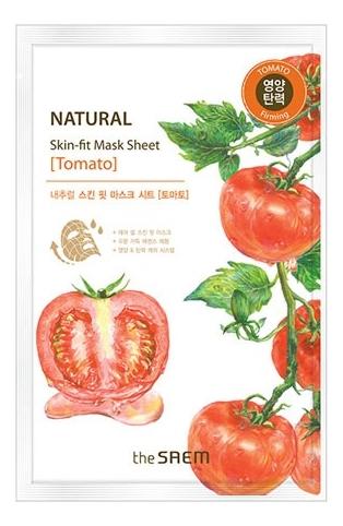 Маска тканевая для лица Natural Skin Fit Mask Sheet Tomato 20мл (томат) the tomato pie