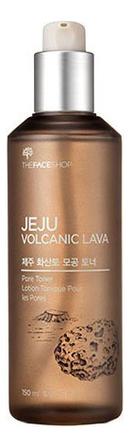 Тонер для лица Jeju Volcanic Lava Pore Toner 150мл the face shop jeju volcanic lava aloe nose strip объем 7 шт