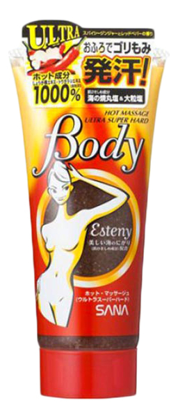 Массажный гель-скраб для тела с морской солью Esteny Hot Massage Body Ultra Super Hard 240г