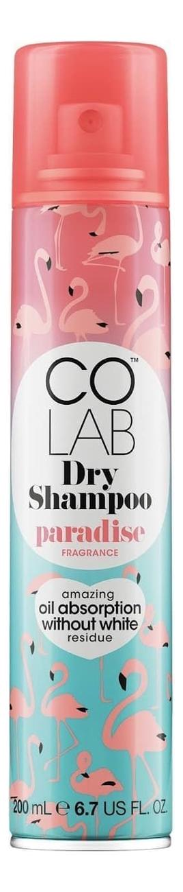 Сухой шампунь для волос прозрачный Paradise 200мл (кокосовый аромат)