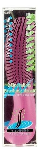 Щетка массажная для сухих волос Mineralion Brush (с изогнутой ручкой, малая)