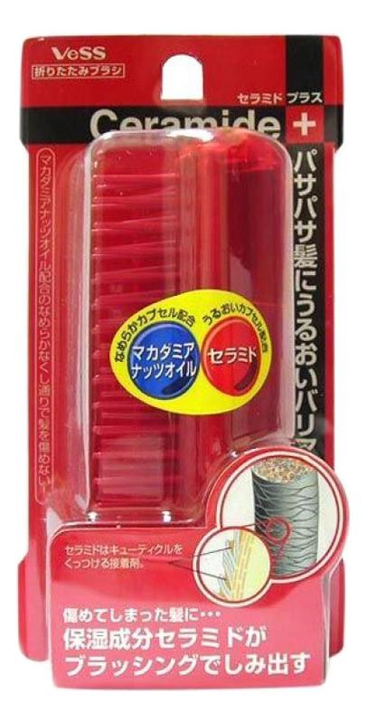Щетка массажная для волос с церамидами Ceramide Brush (складная) щетка массажная для сухих волос mineralion brush складная