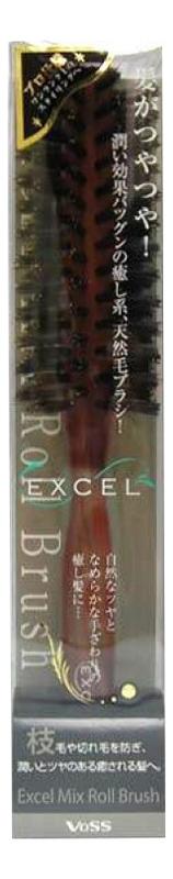 Щетка для укладки волос с натуральной щетиной и нейлоном Excel Mix Roll Brush (круглая) щетка для укладки волос с натуральной щетиной и нейлоном excel mix roll brush круглая