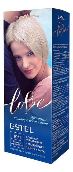 Фото - Стойкая крем-краска для волос Love: 10/1 Серебристый блондин краска д волос palette c10 серебристый блондин