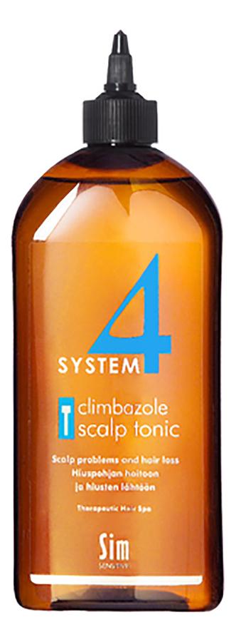 Тоник для стимуляции роста волос System 4 Climbazole Scalp Tonic: Тоник 500мл успокаивающий тоник для кожи головы semi di lino scalp relief sensitive skin calming tonic 125мл