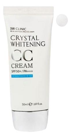 Осветляющий CC крем для лица Crystal Whitening Cream SPF50 PA+++ 50мл: 01 Glitter Beige осветляющий cc крем для лица crystal whitening cream spf50 pa 50мл natural beige