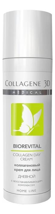 Коллагеновый крем для лица с восстанавливающим комплексом дневной Biorevital Collagen Day Cream Home Line 30мл шампунь коллагеновый kativa