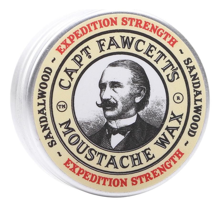 Воск для усов Expedition Strength Sandalwood Moustache Wax 15мл воск для усов с запахом черного кофе styling wax black coffee 15мл