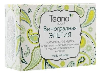 Мыло скраб-эксфолиант для лица и тела Виноградная элегия Home 100г мыло teana teana te022lwvir63