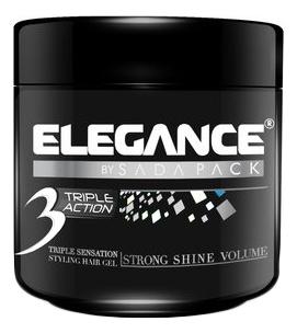 Гель для укладки волос тройного действия Triple Action Hair Gel White: 500мл