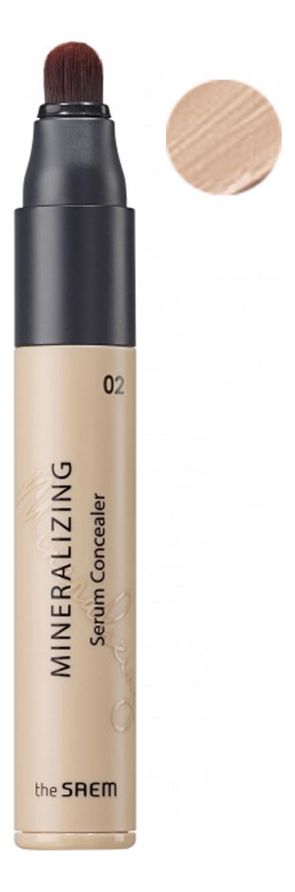 Минеральная сыворотка-консилер для лица Mineralizing Serum Concealer SPF30 PA++ 5мл: 02 Rich Beige тональное средство консилер skin concealer 2 5мл s205 medium tan