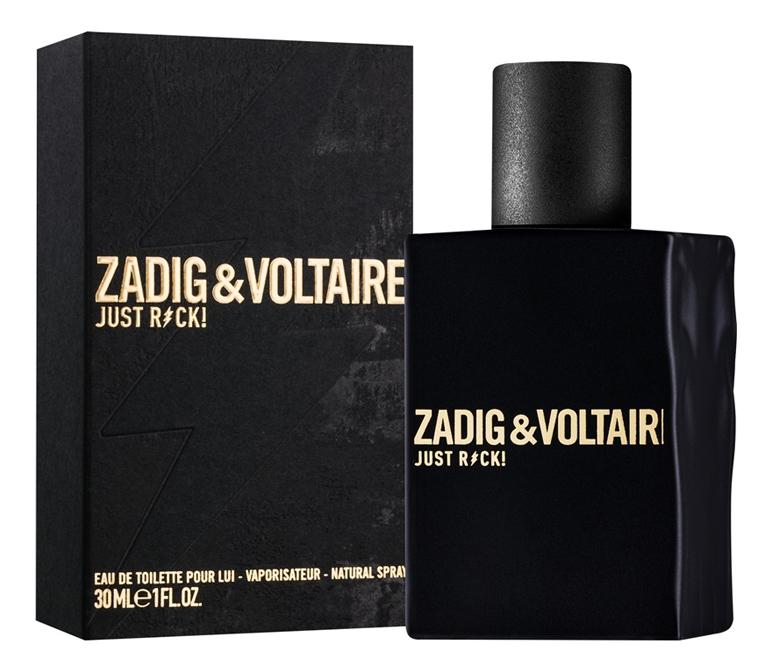 Zadig & Voltaire Just Rock! For Him: туалетная вода 30мл сумка zadig