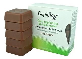 Горячий воск для чувствительной кожи плотный Low Melting Point Hair Removal Wax (шоколадный) : Воск 500г