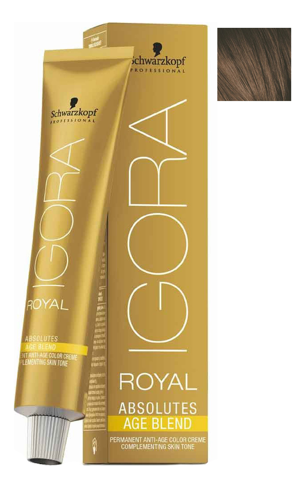Крем-краска для волос Igora Royal Absolutes Age Blend 60мл: 6-460 Dark Blonde Beige Chocolate dark age dark age acedia limited edition