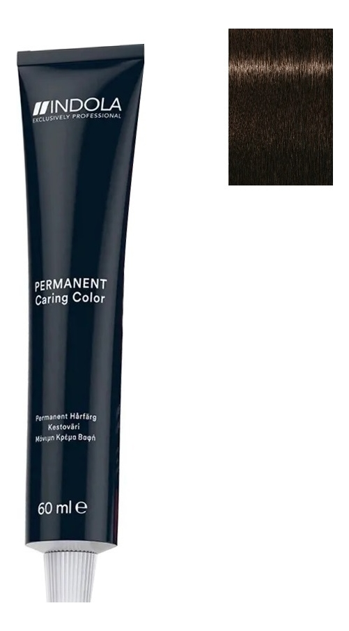 Стойкая крем-краска для волос Permanent Caring Color 60мл: 4.0 Средний коричневый натуральный крем краска для волос indola color red