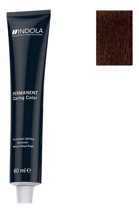 Стойкая крем-краска для волос Permanent Caring Color 60мл: 4.4 Средний коричневый медный крем краска для волос indola color red