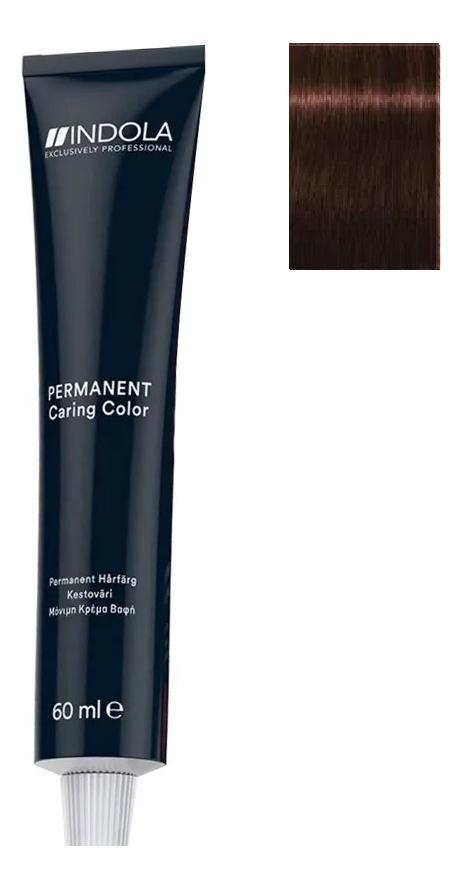 Стойкая крем-краска для волос Permanent Caring Color 60мл: 5.56 Светлый коричневый махагон красный крем краска для волос indola color red