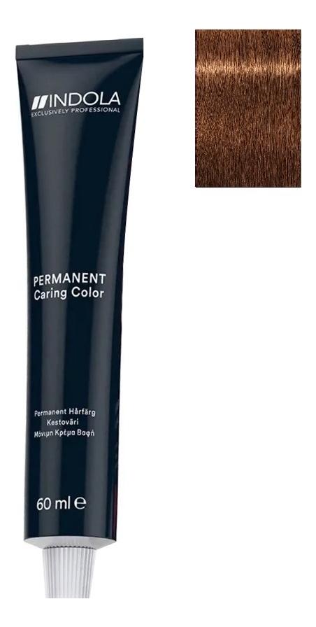 Стойкая крем-краска для волос Permanent Caring Color 60мл: 6.80 Темный русый шоколадный натуральный indola professional перманентная крем краска permanent caring color natural