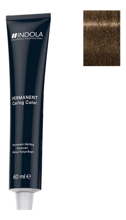 Стойкая крем-краска для волос Permanent Caring Color 60мл: 7.00 Средний русый интенсивный натуральный крем краска для волос indola color red