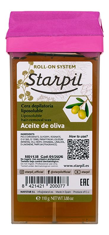 Воск в картридже для чувствительной кожи Олива Aceite De Oliva 110г (прозрачный)
