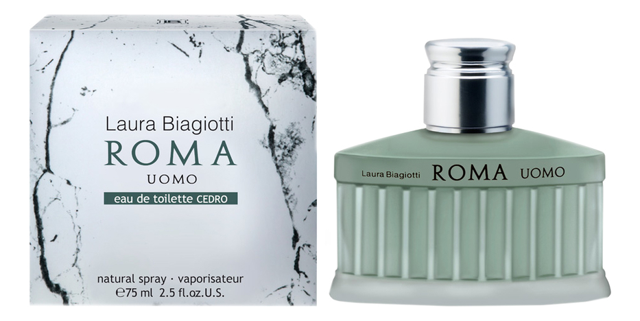 Laura Biagiotti Roma Uomo Eau De Toilette Cedro : туалетная вода 75мл laura biagiotti roma uomo туалетная вода 75 мл