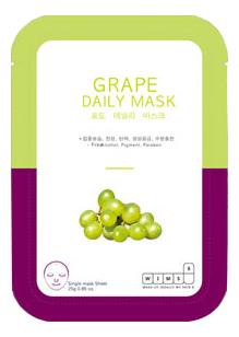 Маска для лица с экстрактом винограда Grape Daily Mask: Маска 1шт обновляющая маска с полифенолами винограда 90 мл swisspure для лица