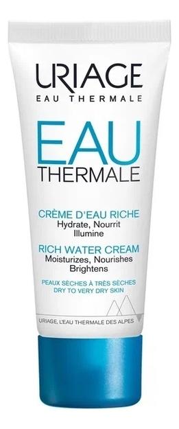 Увлажняющий крем для сухой кожи лица Eau Thermale Creme Deau Riche 40мл восстанавливающий питательный крем для лица eau thermale creme nutritive revitalisante 50мл