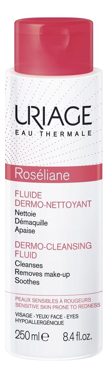 Очищающая эмульсия для чувствительной кожи лица Roseliane Fluide Dermo-Nettoyant 250мл