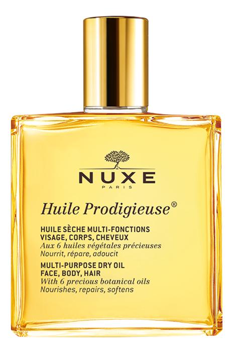 Сухое масло для лица, тела и волос Huile Продижьез Multi-Purpose Dry Oil: Масло 50мл продижьёз сухое обогащенное масло 100 мл nuxe prodigieuse