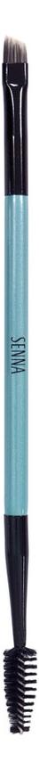 Двусторонняя кисть для цветовой коррекции и укладки бровей Brush Brow Pro No40 sephora collection pro кисть двусторонняя для бровей 20