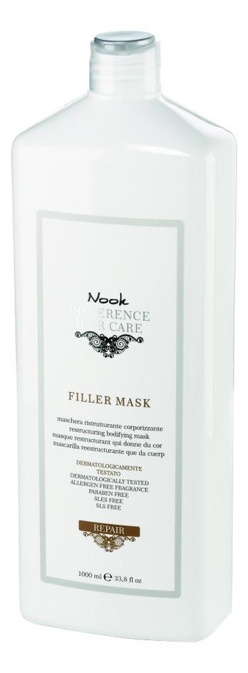 Восстанавливающая маска для сухих и поврежденных волос Ph 4,0 Difference Hair Care Repair Filler Mask: Маска для волос 1000мл nook repair damage mask маска для глубокого восстановления нормальных или толстых поврежденных волос ph 4 7 300 мл