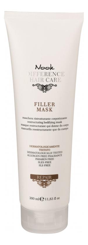 Восстанавливающая маска для сухих и поврежденных волос Ph 4,0 Difference Hair Care Repair Filler Mask: Маска для волос 300мл nook repair damage mask маска для глубокого восстановления нормальных или толстых поврежденных волос ph 4 7 300 мл