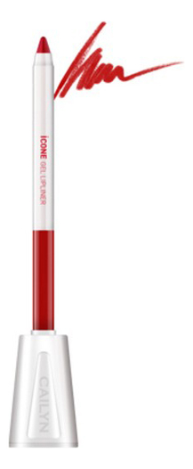 Карандаш для губ с точилкой ICone Gel LipLiner 1,2г: L01 Apple Red карандаш для глаз cailyn icone gel eyeliner with sharpner holder e03 gem stone 1 2 гр
