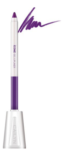 Карандаш для губ с точилкой ICone Gel LipLiner 1,2г: L05 Purple карандаш для глаз cailyn icone gel eyeliner with sharpner holder e03 gem stone 1 2 гр