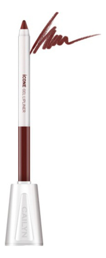 Карандаш для губ с точилкой ICone Gel LipLiner 1,2г: L09 Oak карандаш для глаз cailyn icone gel eyeliner with sharpner holder e03 gem stone 1 2 гр