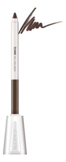 Карандаш для глаз с точилкой ICone Gel EyeLiner 1,2г: E05 Chocolate карандаш для глаз cailyn icone gel eyeliner with sharpner holder e03 gem stone 1 2 гр