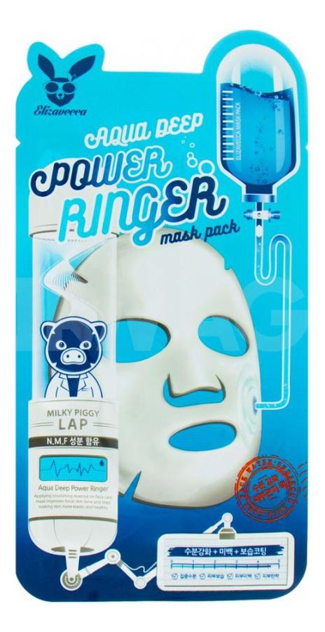 Тканевая маска для лица увлажняющая Aqua Deep Power Ringer Mask Pack: Маска 23мл увлажняющая маска авен