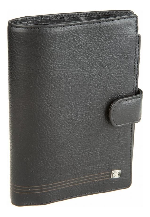 Портмоне с обложкой д/паспорта West Black 2334 (черное) кошельки бумажники и портмоне sergio belotti 1827 west black