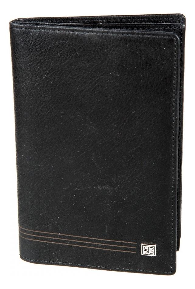 Обложка для документов West Black 1424 (черная)